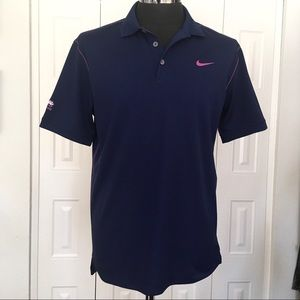 NIKE GOLF navy Dry Fit Torrey Pines golf shirt